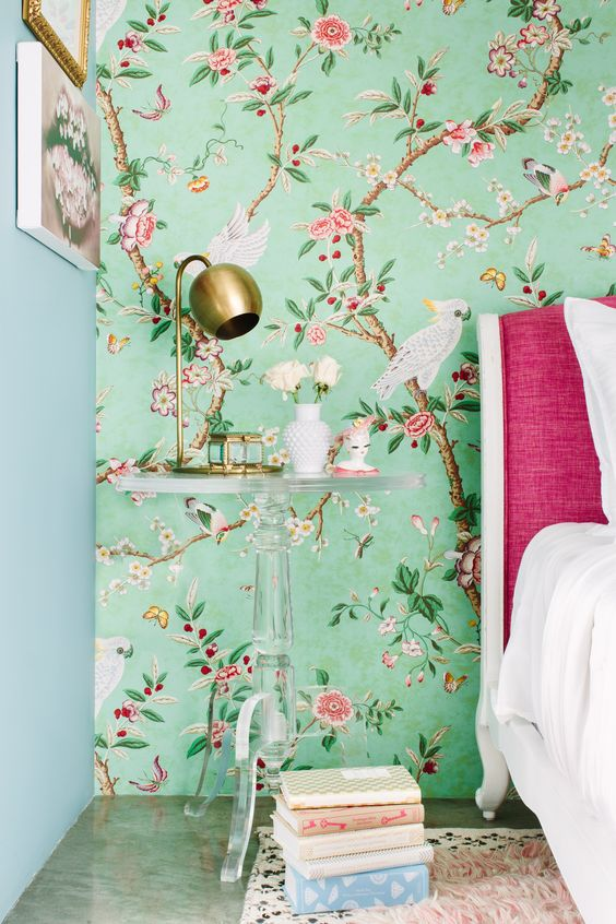 et si on se jetait des fleurs jusque sur les murs. Black Bedroom Furniture Sets. Home Design Ideas