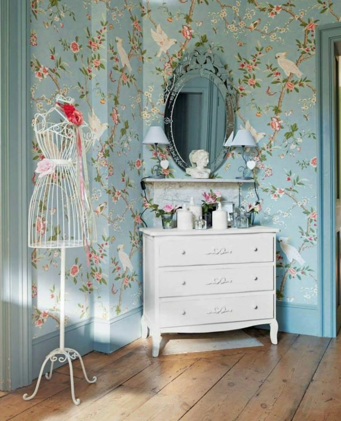 et si on se jetait des fleurs jusque sur les murs. Black Bedroom Furniture Sets. Home Design Ideas