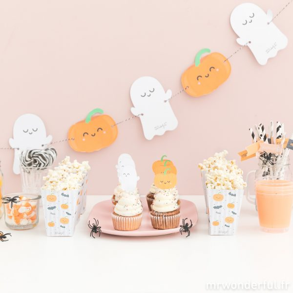 banderole et muffins Halloween