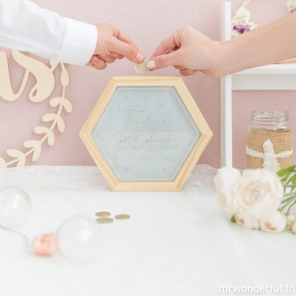 tirelire adultes originale cadeau mariage Mr. Wonderful