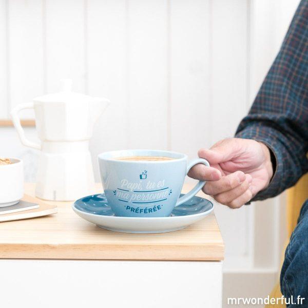 lot vaisselle tasse et soucoupe cadeau à offrir grand-père Mr. Wonderful