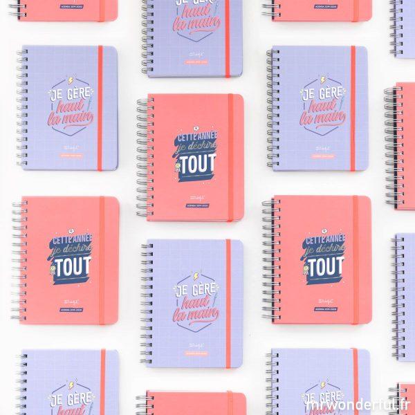 Mr. Wonderful agendas scolaires 2019-2020 gamme sketch