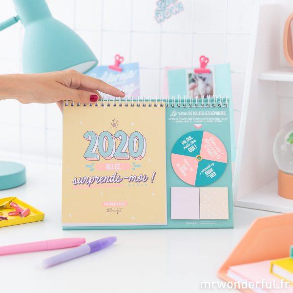 Mr. Wonderful calendrier de bureau 2020 Sketch