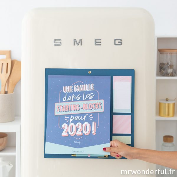 calendrier d'organisation familliale 2020 Mr. Wonderful