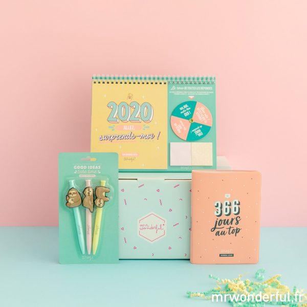 Mr. Wonderful coffret cadeau agenda calendrier stylos