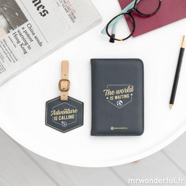 Housse pour passeport et porte-bagage Mr. Wonderful