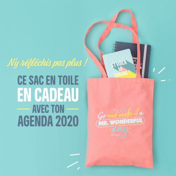 Agenda annuel Mr. Wonderful 2020 promotion tote bage