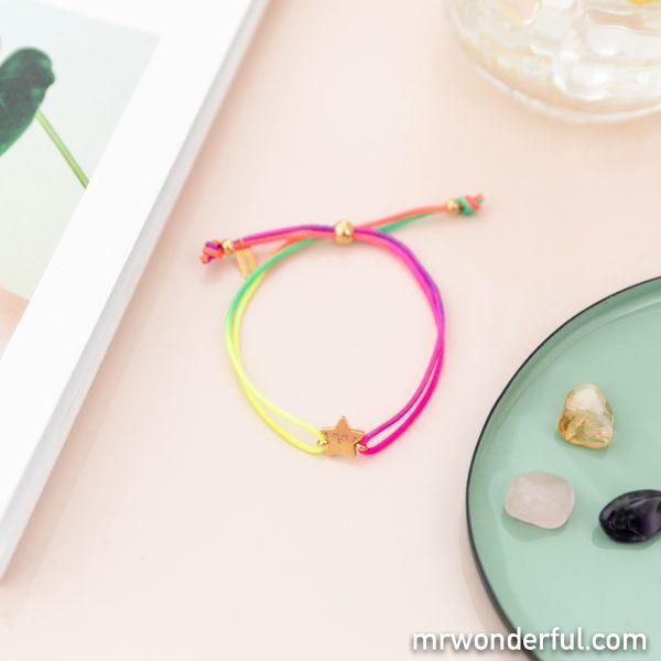 bracelet coulissant multicolore mr wonderful