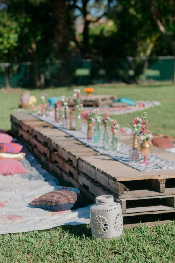 Tavolo da picnic all'aperto