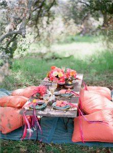 Cuscini per picnic all'aperto