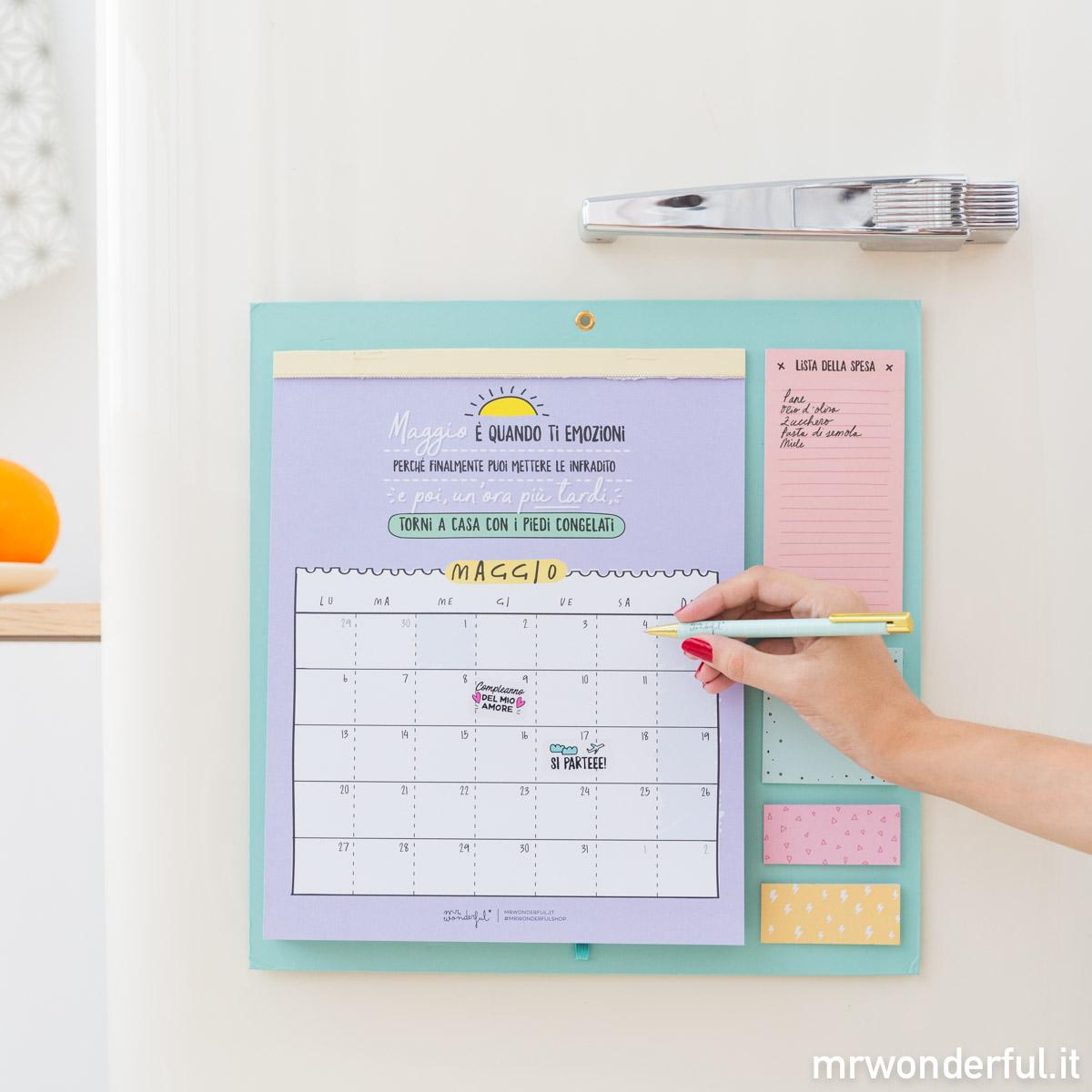 Calendario Mr Wonderful 2019.Calendario Da Muro Classico Mr Wonderful Cancelleria E