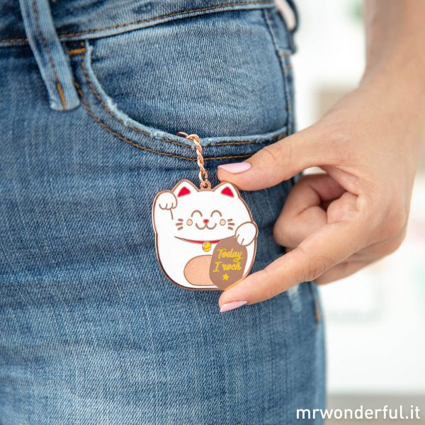 Portachiavi maneki neko mr wonderful lucky collection