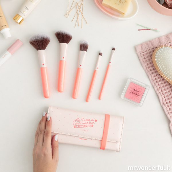 set di pennelli per il trucco make-up brushes segreti di bellezza betern sfumini pennellini makeup
