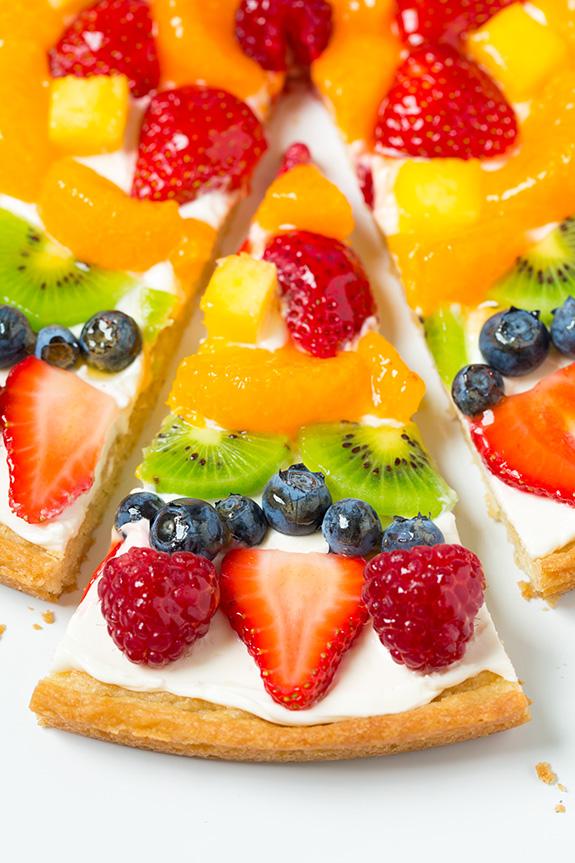 Pizza de frutas, ideal para uma sobremesa