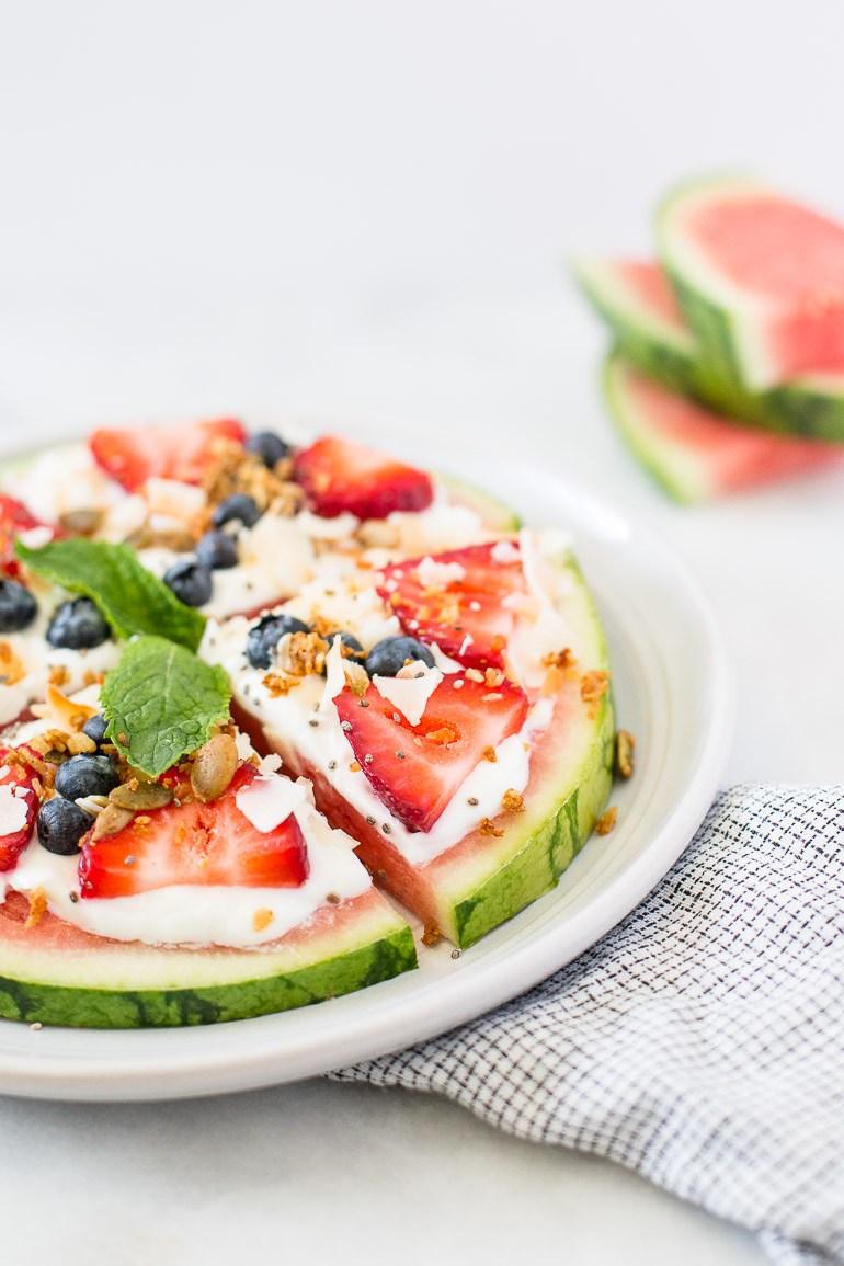 Pizzas saudáveis com frutas