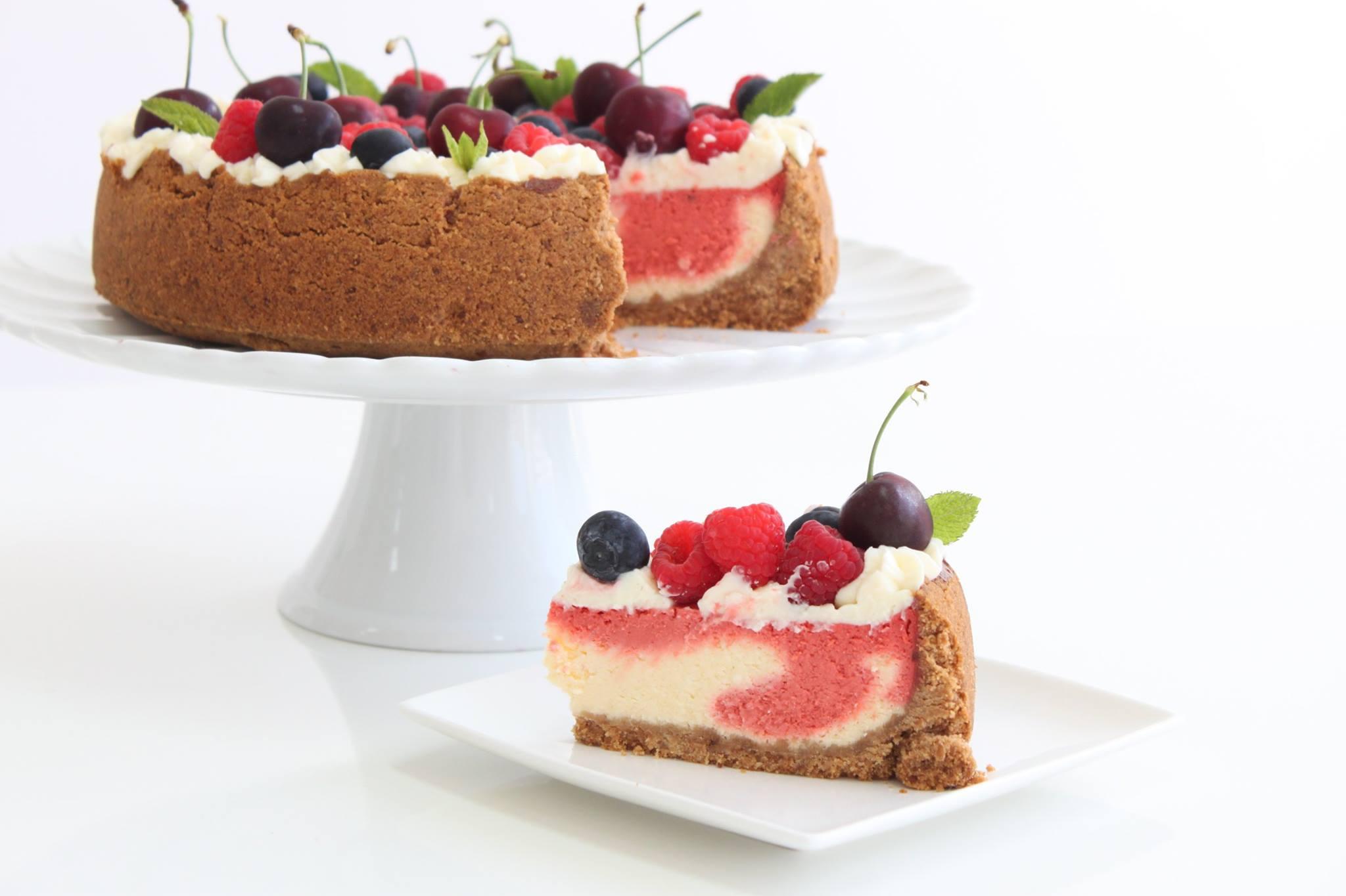 Torta de frutos vermelhos