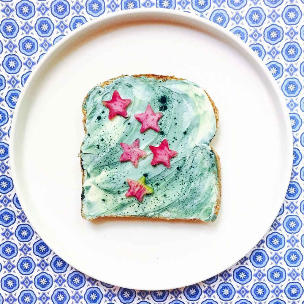 Unicorn toast da Vibran and Pure