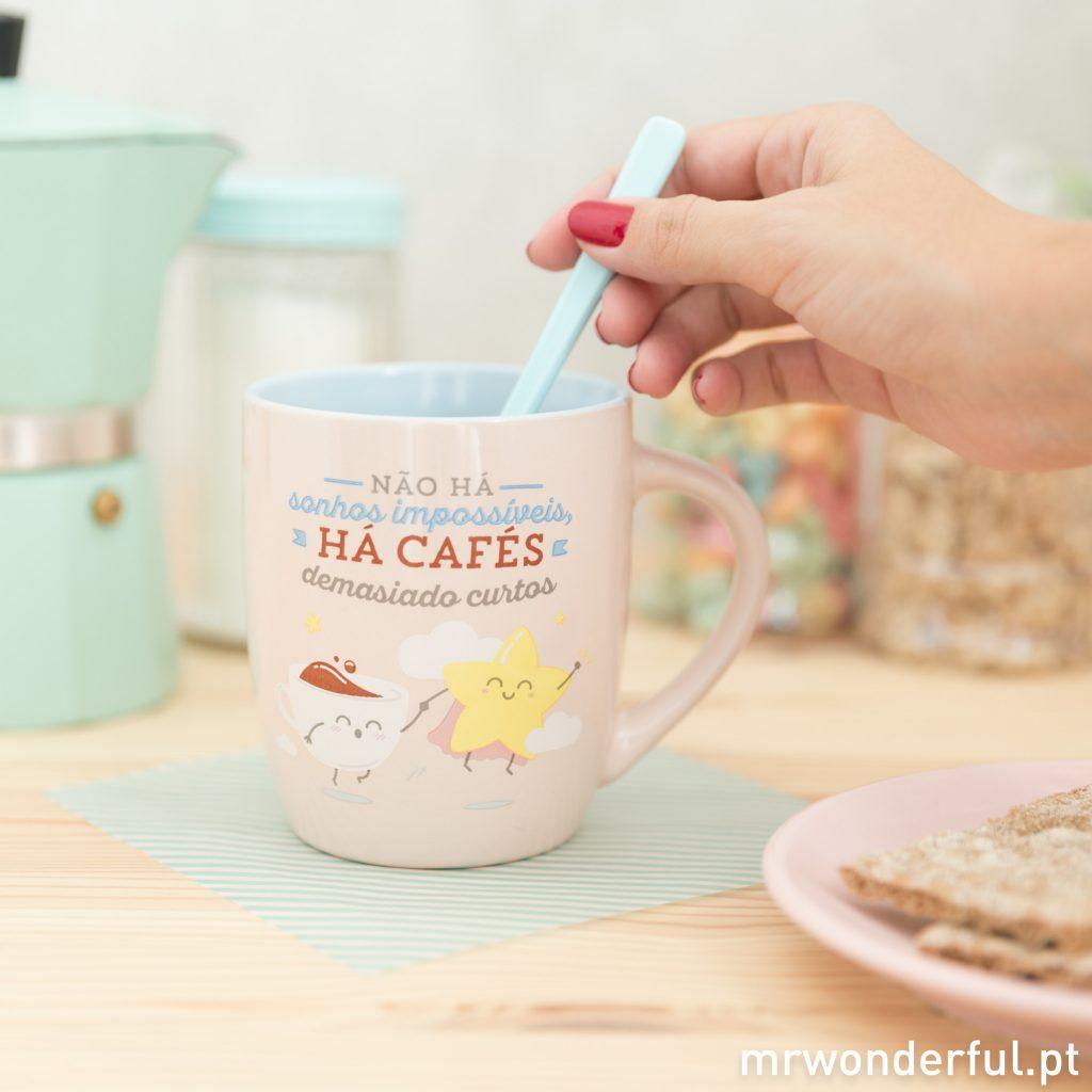 Não há sonhos impossíveis - Nova caneca de pequeno-almoço Mr. Wonderful