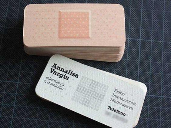 Cartões de visita original para profissionais de saúde