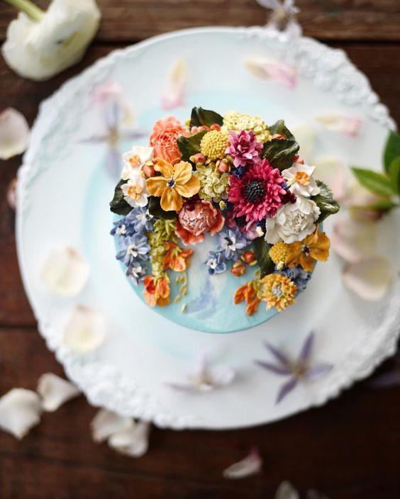 Bolo de casamento ou aniversário