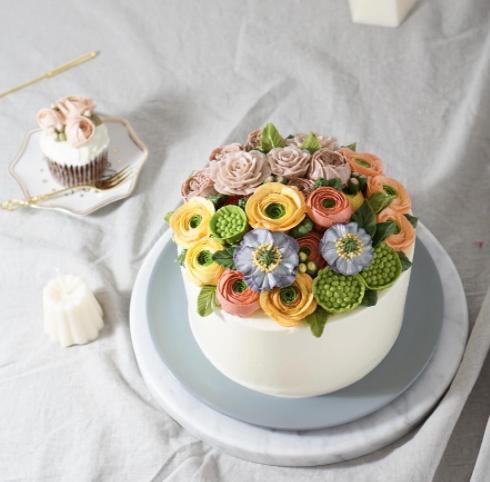 The flower cake