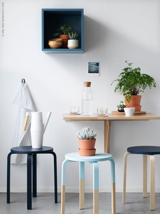 Pintar os assentos dos bancos IKEA