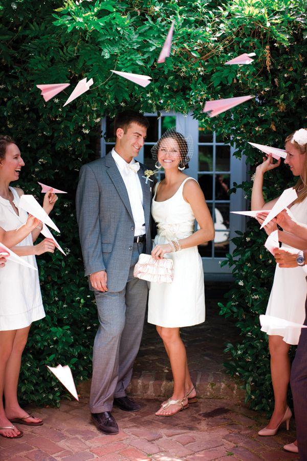 Casamento com aviões de papel