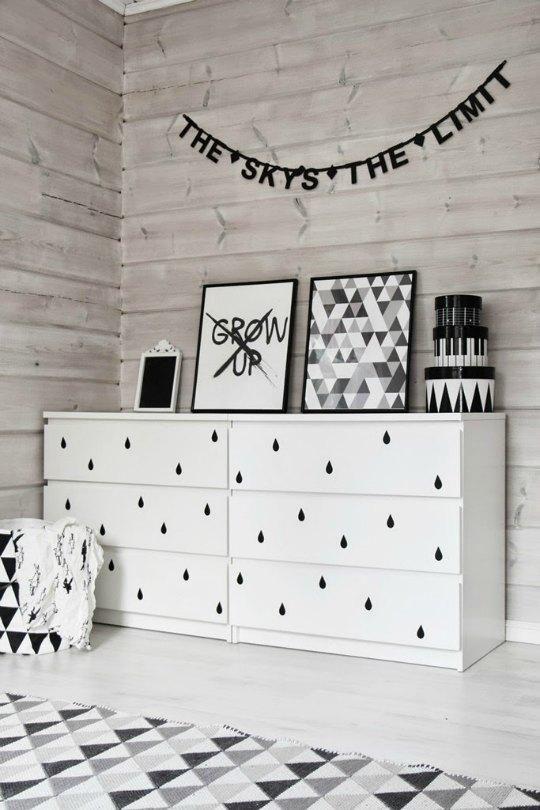 Decoração para quartos de bebé com móveis IKEA