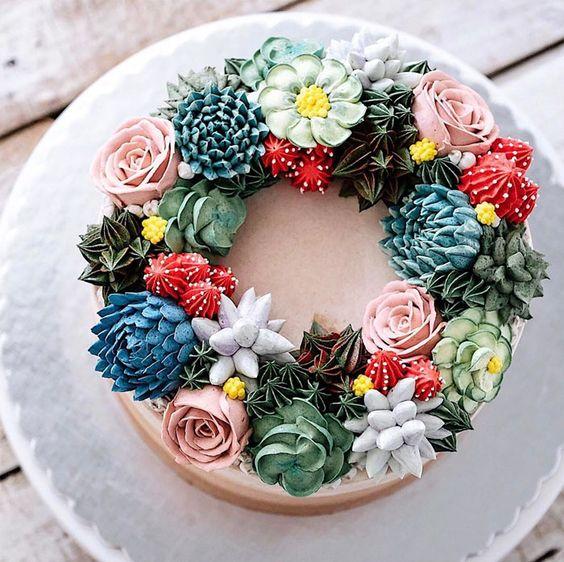 Cake design com flores comestíveis