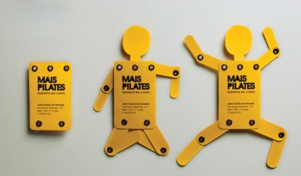 Cartões de visita criativos para pilates