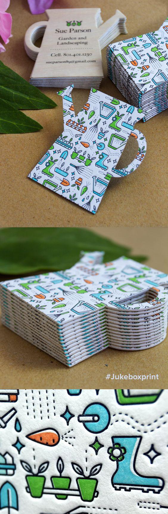 Cartões de visita criativos com formas