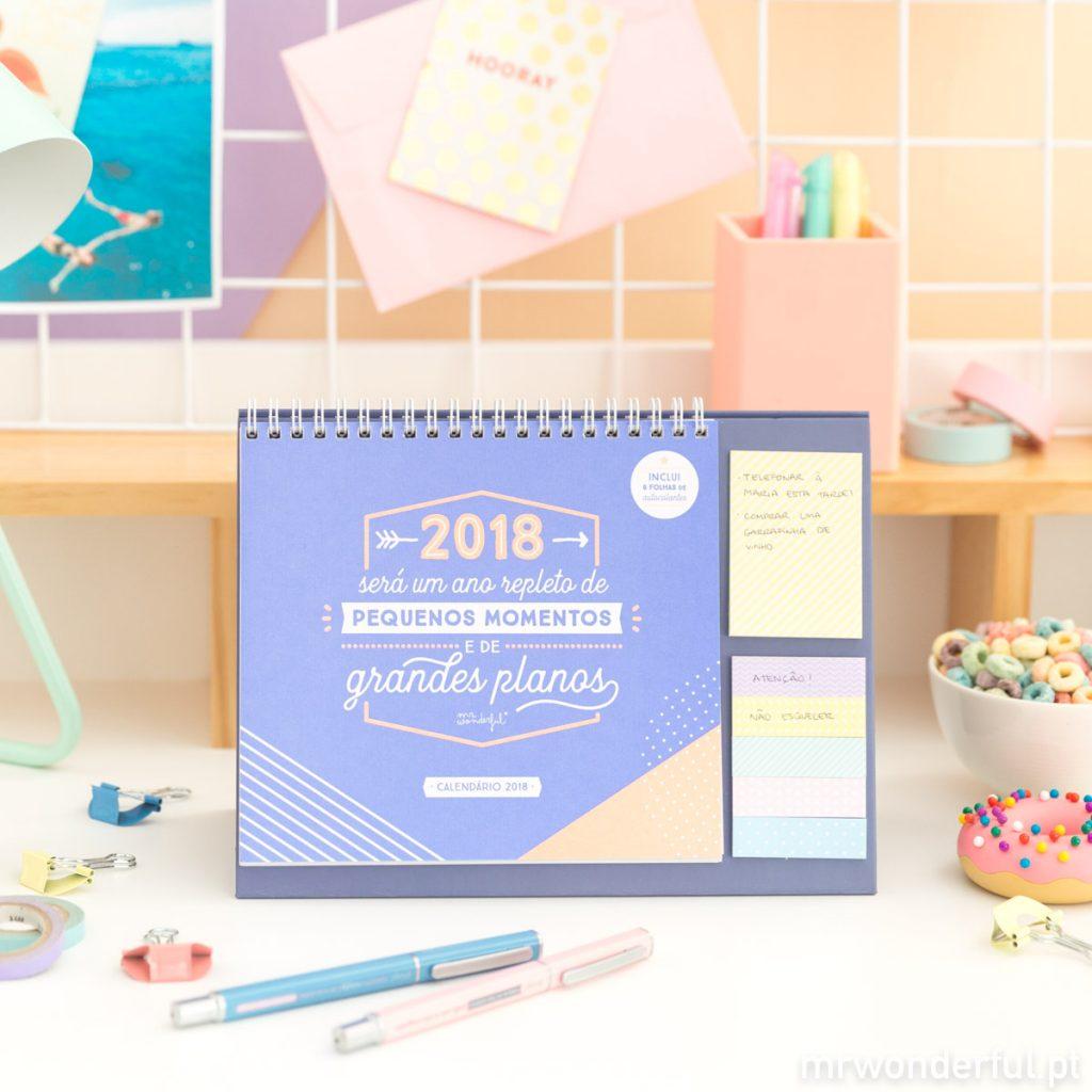 Calendário de mesa 2018