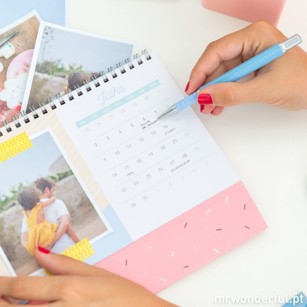 Personaliza o teu calendário 2018