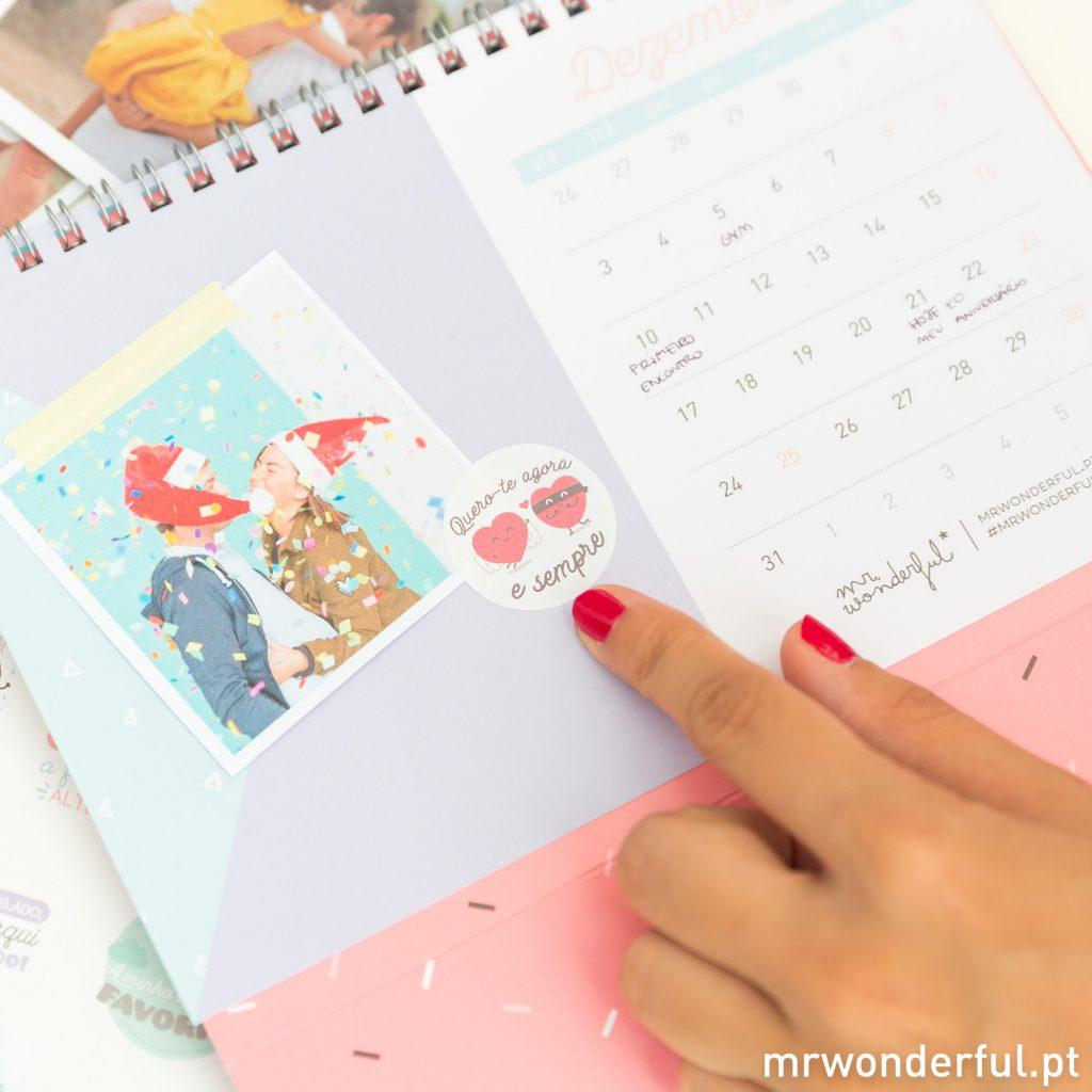 Fotos de familia no calendário