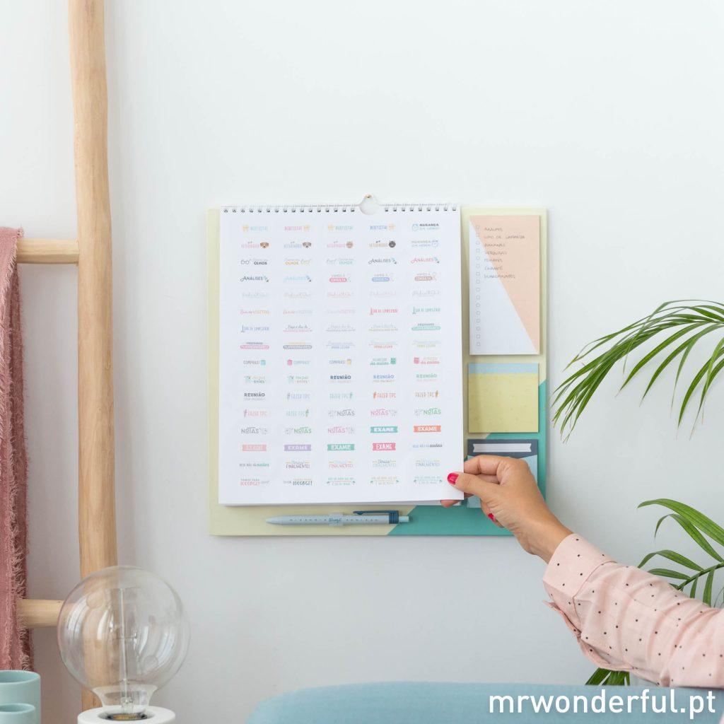 Calendário para organizar uma família