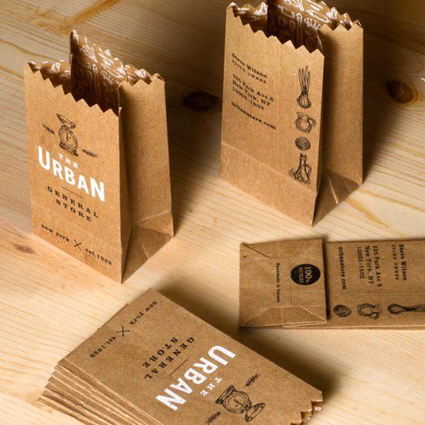 Cartões de visita criativos para delivery