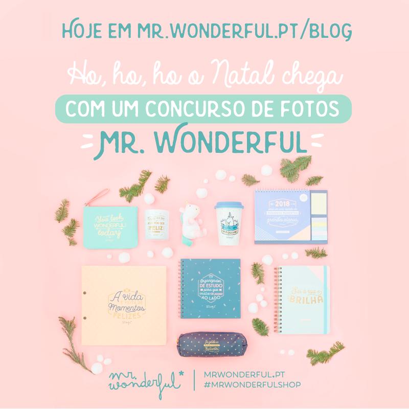 Ainda nem é Natal e já começam os presentes! Nestas festas, tira uma foto com produtos Mr. Wonderful e habilita-te a ganhar um lote de produtos wonder!