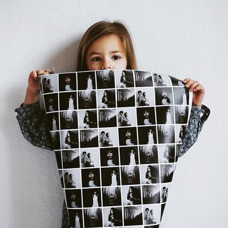 Papel de embrulho com fotografias