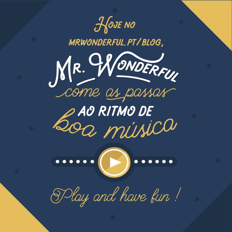 A Mr. Wonderful come as passas ao ritmo da música na passagem de ano + uma surpresa descartável!