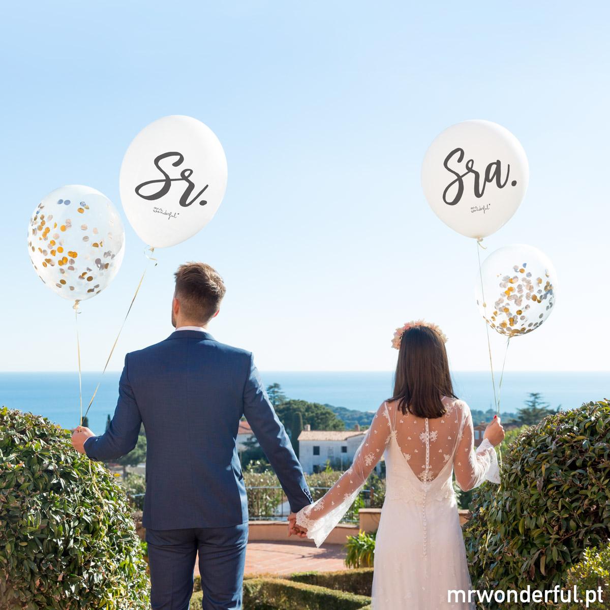 Balões de casamento