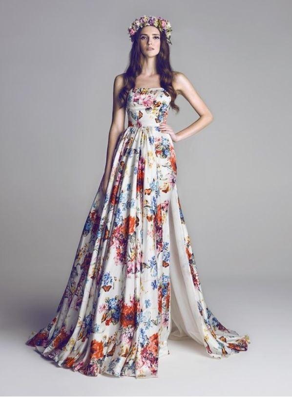 vestido noiva flores
